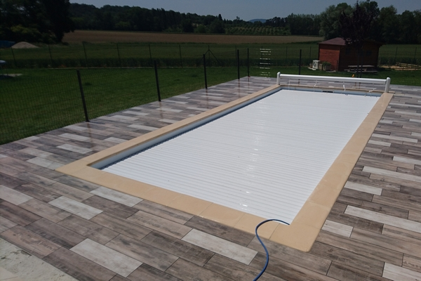 Entourage Piscine Imitation Bois  Drme Rnovation